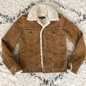 Earl Jeans Corduroy Sherpa Lined Jacket Coat